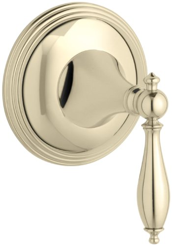 - KOHLER K-T10303-4M-AF Finial Traditional Volume Control Valve Trim, Vibrant French Gold