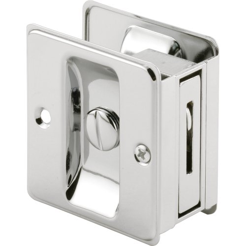 et Door Privacy Lock with Pull, Chrome Plated ()