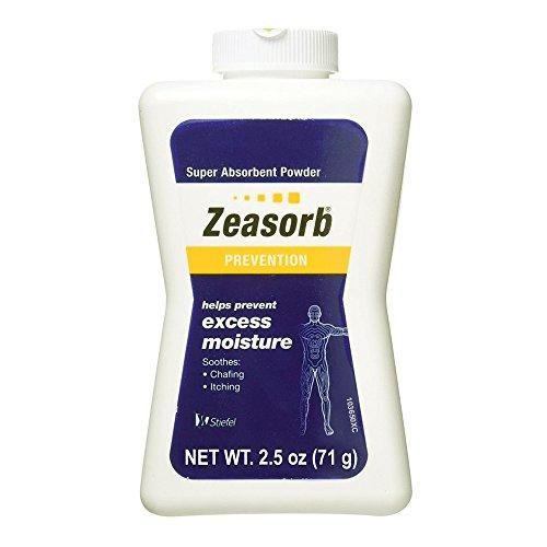 Moisture Excess - Special pack of 6 Zeasorb Super Absorbent Powder 2.5 oz (70.9 g)