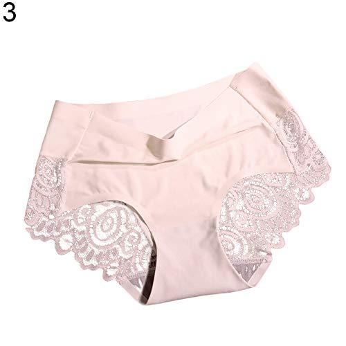 millet16zjh Sexy Underwear,Lace Panties Thong Seamless Cotton Breathable Briefs Sexy Women Underwear Shrimp Skin XL ()