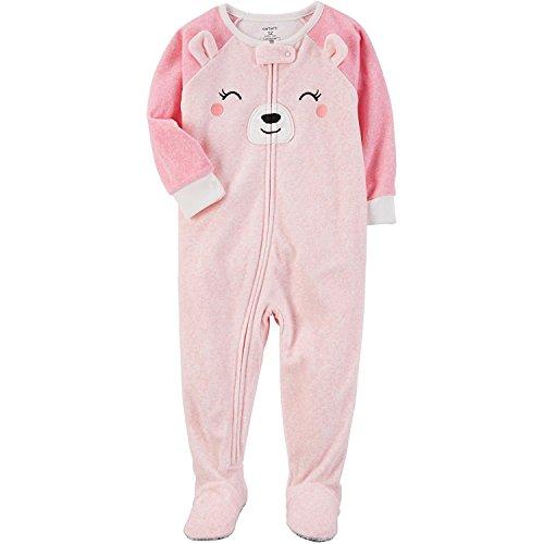 Carter's Baby Girls' 12M-24M One Piece Bear Fleece PJS 24 Months by Carter's
