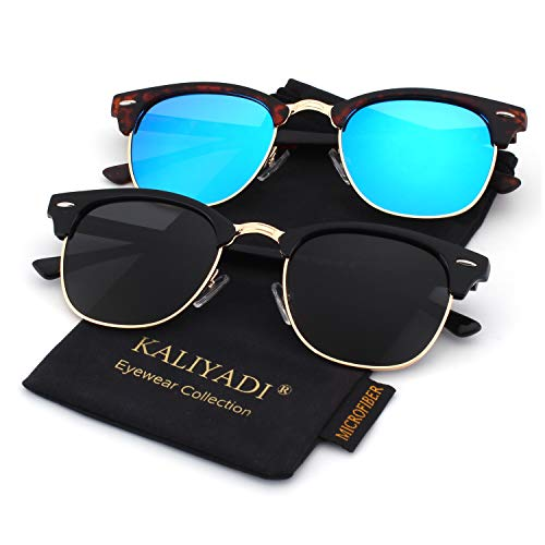 Unisex Polarized Retro Classic Trendy Stylish Sunglasses for Men Women Driving Sun glasses:100% UV ()