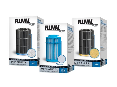 Fluval G3 3-Pack Aquarium Cartridges Filter - Quick Filter Cartridge Change