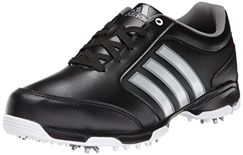 adidas Men's Pure 360 Lite Golf Shoe, Core Black/Metallic Silver/Running White, 9.5 M US