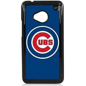 MLB Major League Baseball Chicago CUBS HTC One M7 Hard Plastic Black or White case (Black)