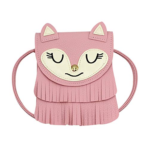 Bags us (5.15.9in) Fringe Cat Tassel Coin Purse Shoulder Bag Purse Crossbody Satchel handbags for Kids Girls ()