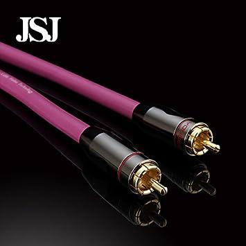 Cables de audio y adaptador, Lotus subwoofer RCA cable de línea coaxial cable de audio