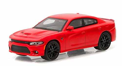 Model Car Green - NEW 1:64 GREENLIGHT MUSCLE SERIES 16 COLLECTION - RED 2016 DODGE CHARGER SRT HELLCAT Diecast Model Car By Greenlight
