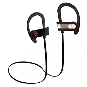 Bluetooth Headphones Best Wireless Sports Earphones with Mic IPX4 Waterproof HD Stereo Sweatproof Earbuds for Gym Running Workout 8 Hour Battery Noise Cancelling Headsets