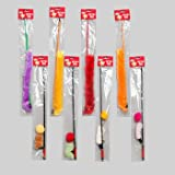 CAT TOY WAND ASSORTMENT 2 STYLES 4 COLORS EACH IN PDQ, Case Pack of 144