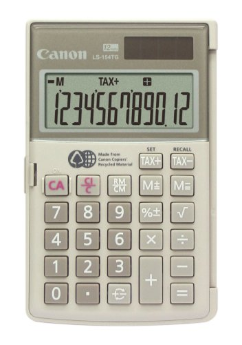 Canon LS-154TG Handheld Calculator - made from the recycled materials of Canon copiers