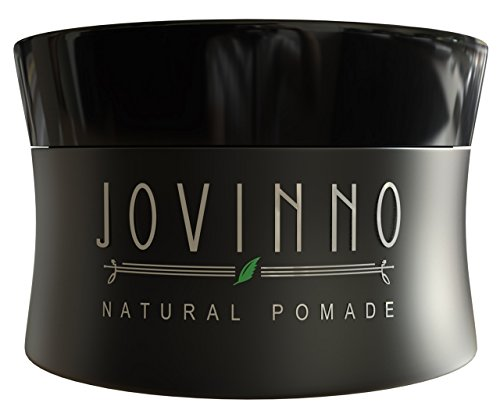 Jovinno Premium Natural Water Based Hair Styling Pomade / Hair Wax 5oz - Matte Shine for thin to thick hair - Medium to Strong Hold - None Greasy - Clear (Wax Pomade)