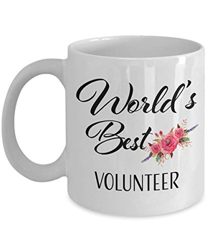 Thank You Gift for Volunteer Coffee Cup - World's Best Volunteer Ever Mug Ideas for Appreciation Day Christmas Birthday New Year Eve 2019 -