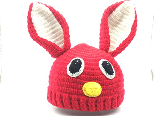 [Seven One -Baby Boys Girls Infant Animal Rabbit Knit Crochet Hat Cap] (Simple Cheer Dance Costumes)