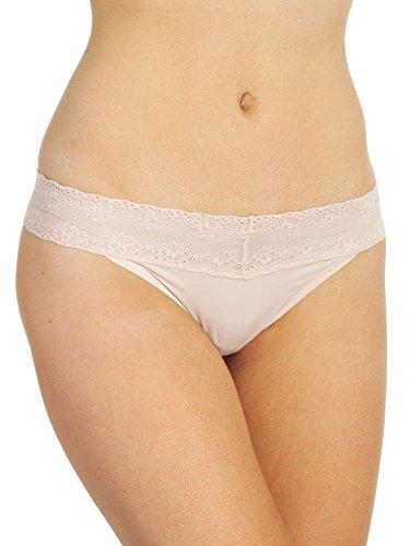 Natori Women's Bliss Perfection O/S Thong Cameo Rose