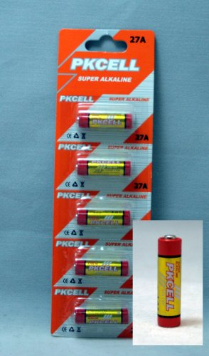 27A A27 12 Volt Alkaline Dry Cell Battery, Retail Package of Five (5), Remote Control, Brand New