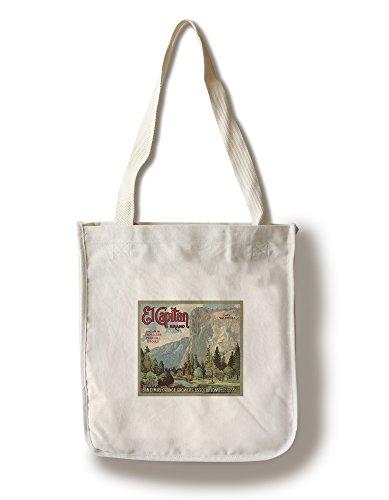 El Captain Brand - San Dimas, California - Citrus Crate Label (100% Cotton Tote Bag - Reusable) ()