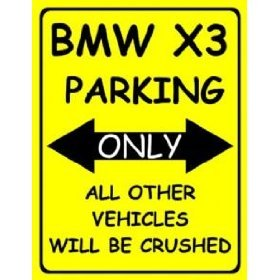 Amazoncom L LARGE BMW X PARKING ONLY METAL ADVERTISING WALL - Bmw parking only signs