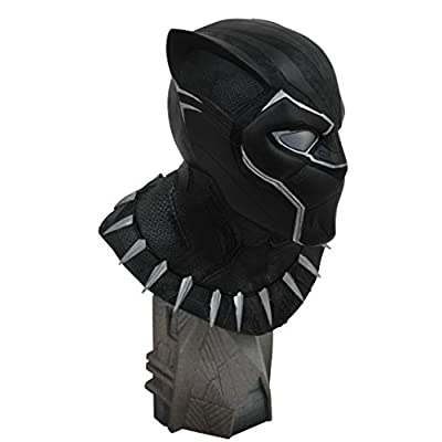 DIAMOND SELECT TOYS Legends in 3-Dimensions: Black Panther Movie 1: 2 Scale Resin Bust, Multicolor: Toys & Games