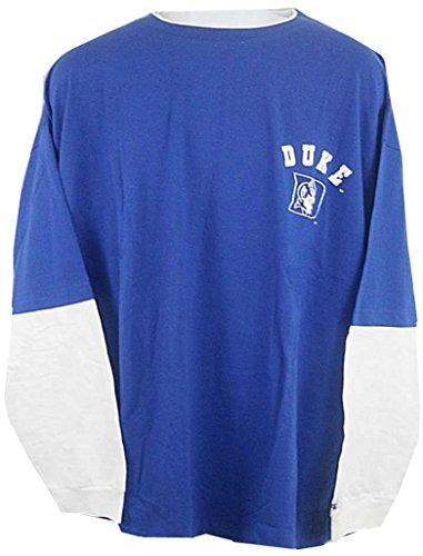 VF Duke Blue Devils NCAA Mens Long Sleeve Shirt Royal Blue Big & Tall Sizes (3XL) - New Duke Blue Devils T-shirt