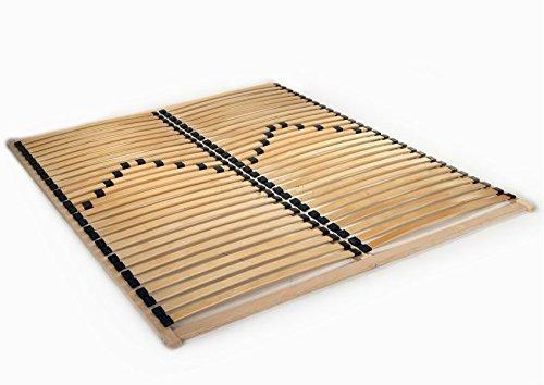 Bed Frame 120/140/160/180/200 x 200 Slatted Base 56 Slats Solid Beech Wooden (120 x 200 cm) 123home24