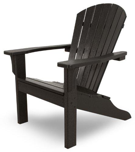 Polywood Adirondack Shell (Ivy Terrace IVA22BL Classics Shell Back Adirondack Chair, Black)