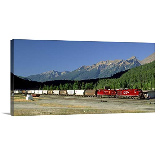 GREATBIGCANVAS Gallery-Wrapped Canvas Entitled Canadian Pacific Railway, Field, British Columbia, Canada by David Nunuk ()