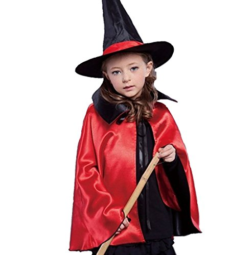 [WT Child kids Witch Costume Halloween decorations ideas (Red)] (Cheap Sexy Halloween Costumes Ideas)