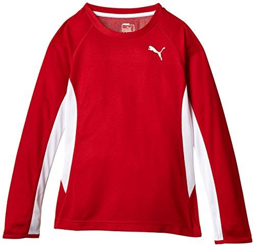 Puma veste &pull tBRunningL/s t-shirt pour femme puma rouge