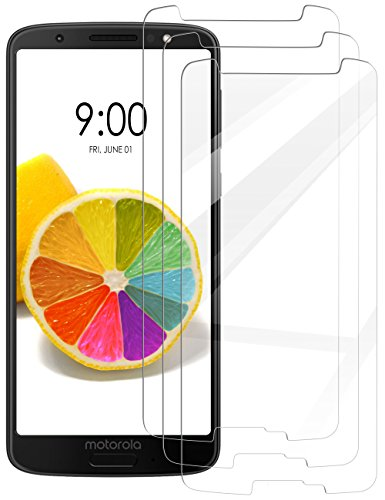 [3 Pack] INGLE Compatible with Motorola Moto G6 Play/Moto G Play (6th Generation) Screen Protector,9H Hardness Bubble Free Tempered Glass with Lifetime Replacement Warranty