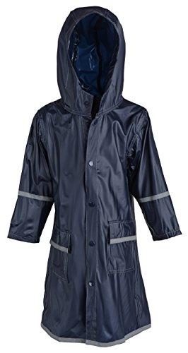 WearWide Kid's Rain Jacket: Little Boys Kids Waterproof Full Length Long Hooded Childrens Raincoat Jacket - Blue (XX-Small)