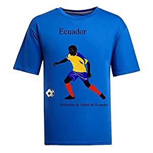 Custom Mens Cotton Short Sleeve Round Neck T-shirt,2014 Brazil FIFA World Cup teams blue by icecream design