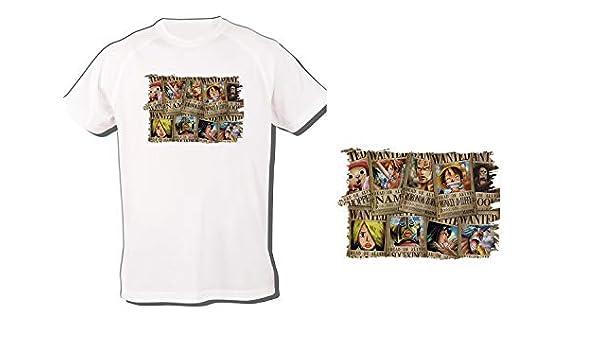 Camiseta Onepiece SE Busca Cartel PJ Tshirt Custom: Amazon ...