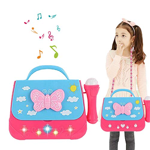 (LtrottedJ Battery Operated Portable Singing Machine with Adorable Sing-Along Boom Box)