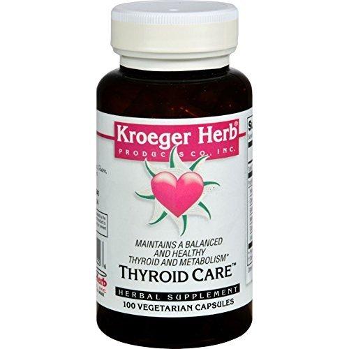 Kroeger Herb Thyroid Care 100 Cap by Kroeger Herb Products