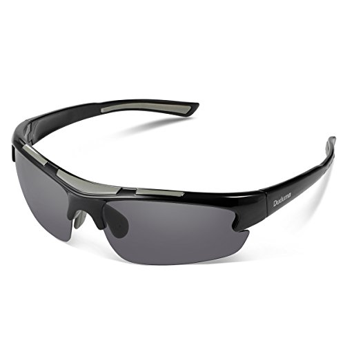 Duduma Polarized Designer Fashion Sports Sunglasses for Baseball Cycling Fishing Golf Tr62 Superlight ()