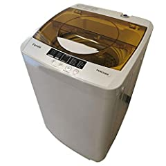 Boasting a unique, space-saving design, the enhanced version of Panda Compact 1.34 cu.ft. Portable Load Washer makes your laundry easy and simple. It is compact which is perfect for small loads for daily usage, you can use it in apartments, d...