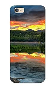 TYH - Dawssi-745-dxdfpdv Case Cover, Fashionable Iphone 6 4.7 Case - Alberta Canada Lake Sunset Reflection Forest Boom Landscape phone case