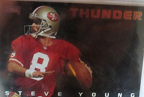 - STEVE YOUNG & JERRY RICE NFL COLLECTIBLE TRADING CARD - 1993 SKYBOX #TLB (THUNDER & LIGHTING - SAN FRANCISCO 49ERS)