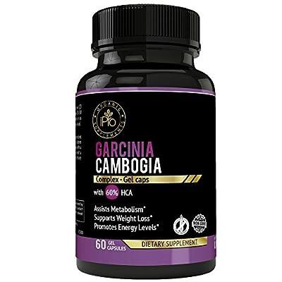 GARCINIA SLIMGEL Premium Garcinia Cambogia Best Appetite Suppressant Pills Garcinia Cambogia Pure Extract 60% HCA Slim 1000 mg for Natural Diet, Weight loss, Gelatin Capsules
