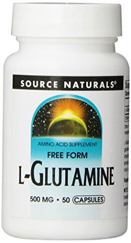 Source Naturals L Glutamine 500mg Free Form Amino Acid Essential For Protein Synthesis Pure 50 Capsules