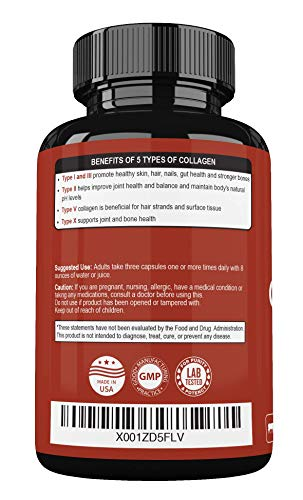 41c%2Bxzq4V0L - Super-Absorb Multi Collagen Pills (Type I II III V X) Organic Herbs and Bioperine - Anti-Aging, Hair, Skin, Nails, Joints - Hydrolyzed Collagen Peptides Protein Supplement for Women Men (90 Capsules)