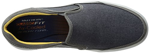Skechers USA Mens Porter Compen Slip-On Loafer Navy/Gray