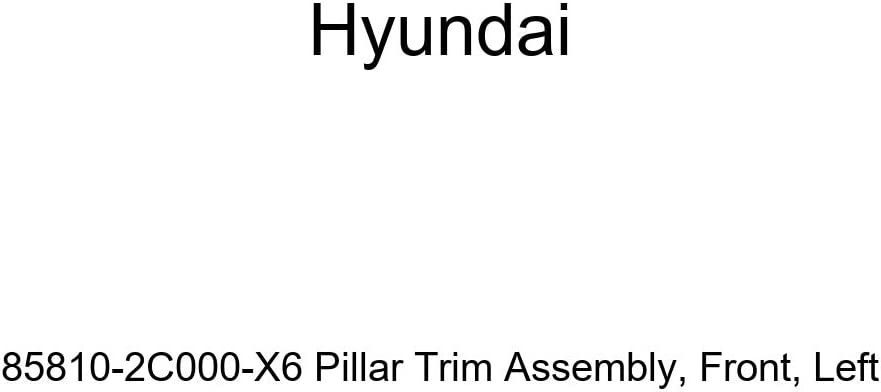 Genuine Hyundai 85810-2C000-X6 Pillar Trim Assembly Left Front