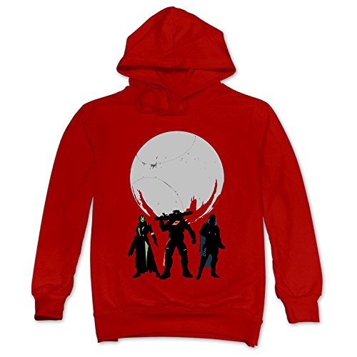 XJBD Men's Fate Game Fashion Sweatshirt Red Size S ()