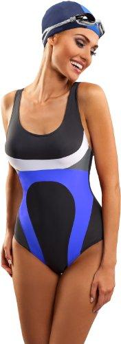 Aquarilla Traje de Ba?o para Mujer Marbella Grafito/Azul