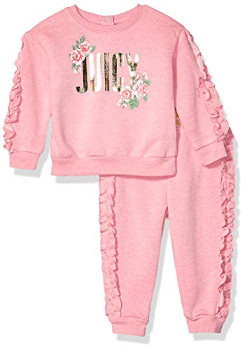 Juicy Couture Baby Girls 2 Pieces Jog Set, Rose Queen, - Shoes Couture