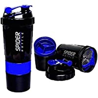USPECHSpider Protein Shaker 500ml with 2 Storage Extra Compartment for Gym (Multi Color)