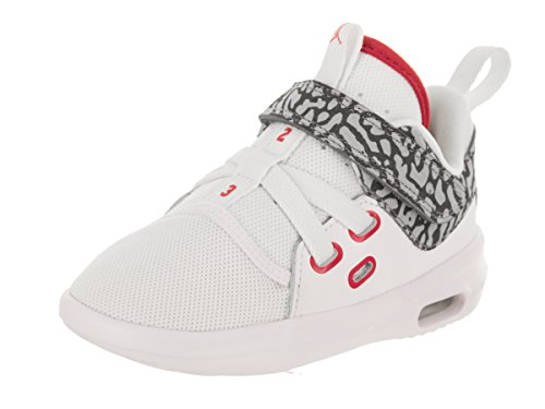 Jordan Nike Toddlers Air First Class BT White/Fire Red Cement Grey Casual Shoe 7 Infants US by Jordan