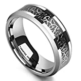 King Will 8mm Tungsten Carbide Ring Wedding Band